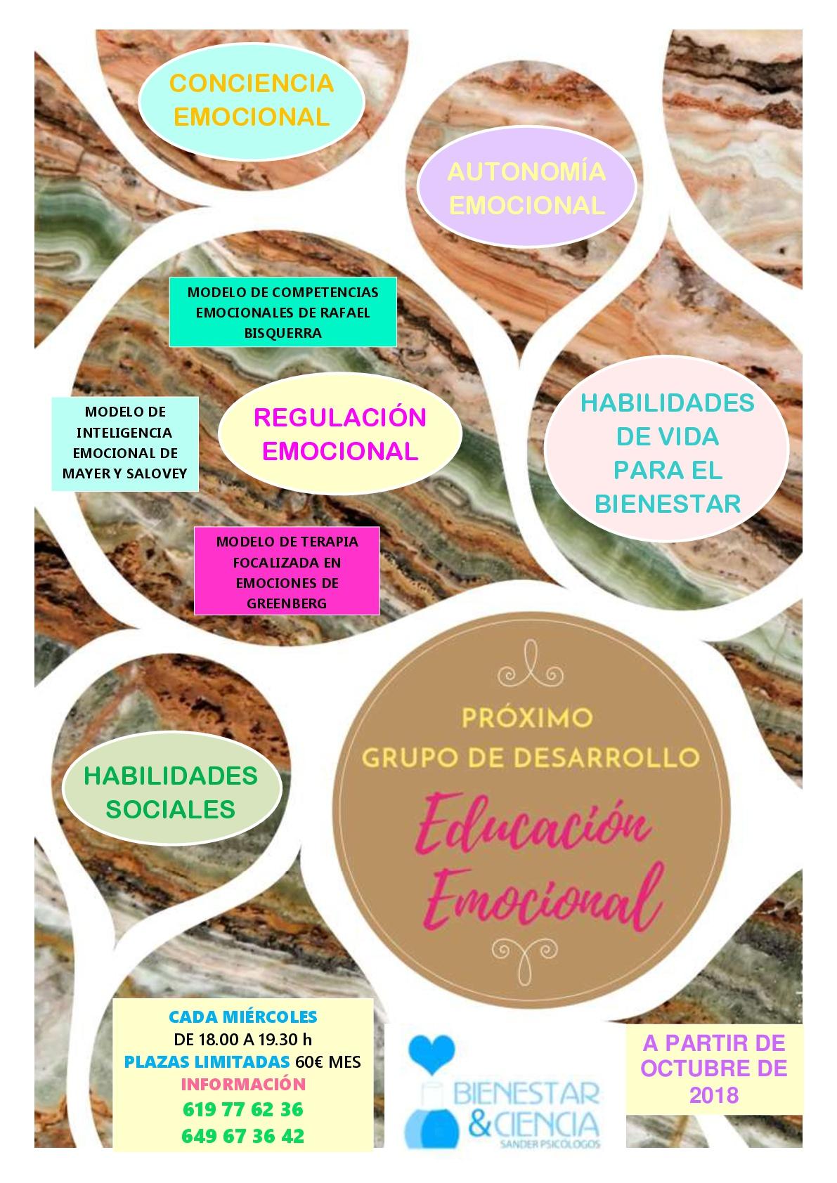 Grupo de desarrollo educación emocional