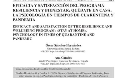 Revista de Psicoterapia. Eficacia y satisfacción del Programa Resiliencia y Bienestar: Quédate en casa